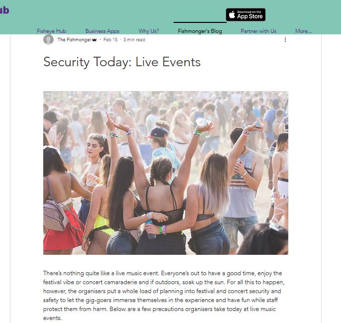 Fisheye Hub blog screenshot